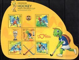 INDIA, 2018, MNH, HOCKEY, MEN'S WORLD CUP, ODISHA HOCKEY WORLD CUP, TURTLES, MASCOTS, SHEETLET - Hockey (Field)