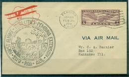 USA 1 Vol  TWIN CITIES / PEMBINA . 21 FEV.1931 TB - 1c. 1918-1940 Cartas