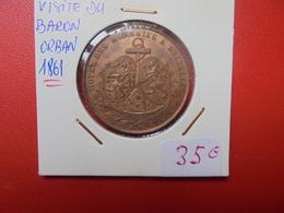 ESSAI 5 Centimes 1861 Léopold 1er. REFERENCE :VOIR DUPRIEZ - 1831-1865: Léopold I