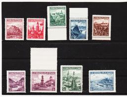 Post279 TSCHECHOSLOWAKEI CSSR 1936 MICHL 351/59 ** Postfrisch SIEHE ABBILDUNG - Unused Stamps