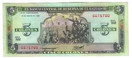 El Salvador 5 Colones 05/06/1990 - Salvador