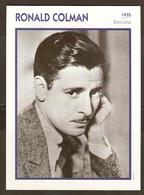 PORTRAIT DE STAR 1935 ETATS UNIS USA - ACTEUR RONALD COLMAN - ACTOR CINEMA - Fotos
