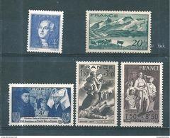 France Timbres De 1943  N°581 Au N°586  Neufs** Sans Charnière - France