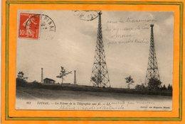 CPA - EPINAL (88) - Pylones De Télégraphie Sans Fil (Marconi) Pour Transmettre Les Signaux Codés Morse En 1913 - Epinal