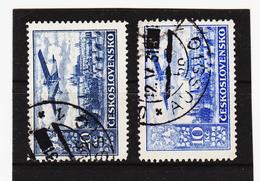 Post280 TSCHECHOSLOWAKEI CSSR 1930 MICHL 309 A + B Gestempelt SIEHE ABBILDUNG - Gebraucht