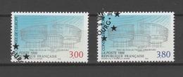 FRANCE / 1996 / Y&T SERVICE N° 116/117 : CONSEIL De L'EUROPE (Palais Des Droits De L'homme) - Cachet Rond CONSEIL - Service