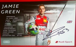 Audi Sports  Jamie Green  Signed Card - Automobile - F1