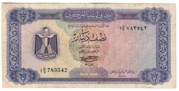Libya 1/2 Dinar 1972 - Libya