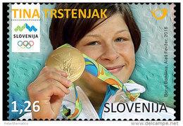 SLOVENIA , 2016, MNH,RIO OLYMPICS, GOLD MEDAL WINNERS, TINA TRSTENJAK, JUDO, MARTIAL ARTS, 1v - Summer 2016: Rio De Janeiro