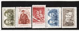 Post254 TSCHECHOSLOWAKEI CSSR 1951 MICHL 660/64 ** Postfrisch SIEHE ABBILDUNG - Tschechoslowakei/CSSR