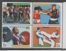 DOMINICAN REPUBLIC , 2016, MNH, UPAEP, RIO OLYMPICS, BOXING, WEIGHT LIFTING, TAEKWONDO, TRACK, 4v - Summer 2016: Rio De Janeiro