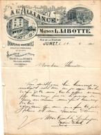 1 Faktuur JUMET Maison L.Libotte Rue De La Station A L'Alliance Draperies Nouveautés Confections Sur Mesure C1902 - Belgium