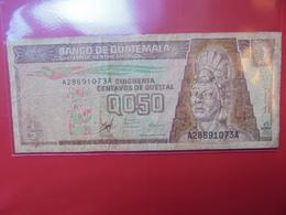 GUATEMALA 1/2 QUETZAL 1998 CIRCULER - Guatemala