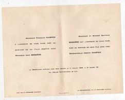 Luc Par La Primaube (12 Aveyron) Faire Part Du Mariage   Niarfeix / Bessière  1955  (PPP10661) - Wedding