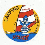 Autocollant , CAMPING LE COLVERT ,Landes ,VIELLE SAINT GIRONS - Stickers