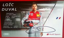 Audi Sports Loic Duval  Signed Card - Autorennen - F1