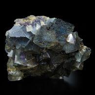 Fluorite Bleue Avec Fantôme Mauve, Cave-in-Rock, Illinois, USA. 102 G., 5,5 X 4 X 3 Cm. - Mineralien