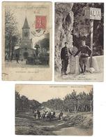 FRANCE - Lot De 64 CPA - 100% ANIMÉES - Toutes Régions - Cartes Postales