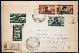 Trieste AMG-FTT Centenario Verdiano + Festa Alberi, Busta Raccomandata Viaggiata (04922) - Storia Postale
