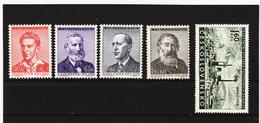 Post210 TSCHECHOSLOWAKEI CSSR 1958 MICHL 1093/96 + 1100 ** Postfrisch SIEHE ABBILDUNG - Tschechoslowakei/CSSR