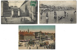 FRANCE - Lot De 62 CPA - 100% ANIMÉES - Toutes Régions - Cartes Postales