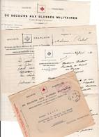 1917 CROIX ROUGE De Secours Aux Blessés Mres - PROPOSITION De MÉDAILLE Pour Une Infirmière - Documents Historiques