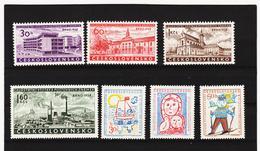 Post211 TSCHECHOSLOWAKEI CSSR 1958 MICHL 1097/00 + 1106/08 ** Postfrisch SIEHE ABBILDUNG - Tschechoslowakei/CSSR