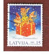 LETTONIA (LATVIA)   -    2002 CHRISTMAS    -   USED - Lettonia