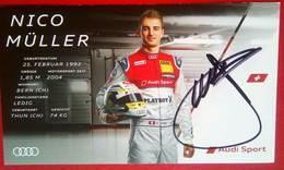 Audi Sports Nico Muller   Signed Card - Automobile - F1