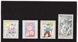 Post212 TSCHECHOSLOWAKEI CSSR 1958 MICHL 1106/08 + 1115 ** Postfrisch SIEHE ABBILDUNG - Tschechoslowakei/CSSR