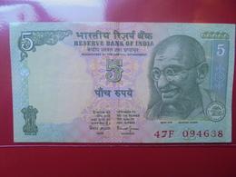 "INDE 5 RUPEES ""GANDHI"" CIRCULER - India"