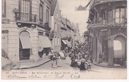 45 Loiret -  MONTARGIS -  Rue Des Lauriers Un Jour De Marché - Cachet 1916 - Montargis