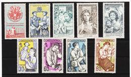 Post213 TSCHECHOSLOWAKEI CSSR 1958 MICHL 1122/30 ** Postfrisch SIEHE ABBILDUNG - Tschechoslowakei/CSSR