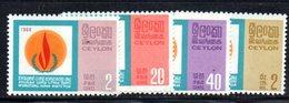 APR1020 - CEYLON 1968 ,  Serie Yvert N. 393/396  ***  MNH (2380A)  Diritti Uomo - Sri Lanka (Ceylon) (1948-...)