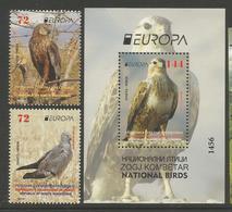 MK 2019-09 EUROPA CEPT, NORD MACEDONIA, 1 X 2v + S/S, MNH - Mazedonien