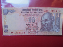 "INDE 10 RUPEES ""GANDHI"" CIRCULER - India"