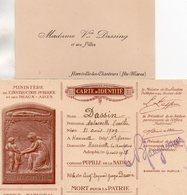 """Document-  """"Carte D'Identité """"  Pupilles De La Nation-- - Documents"""