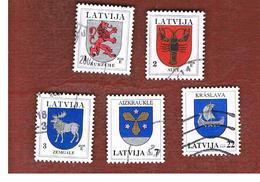 LETTONIA (LATVIA)   - MI 371DIX.661  -      2006  ARMS    -   USED - Lettonia