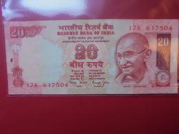 "INDE 20 RUPEES ""GANDHI"" CIRCULER - India"
