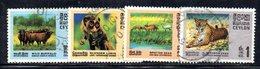 APR1022 - CEYLON 1970 ,  Serie Yvert N. 413/416  Usato (2380A) - Sri Lanka (Ceylon) (1948-...)