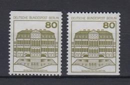 Berlin 674 C/D Oben+unten Geschnitten Aus MH B+S (V) 80 Pf Postfrisch  - Berlin (West)