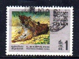APR1023 - CEYLON 1970 ,   Yvert N. 416  Usato (2380A)  Tigre - Sri Lanka (Ceylon) (1948-...)