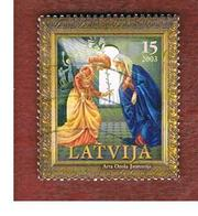 LETTONIA (LATVIA)   - MI 601  -      2003  CHRISTMAS   -   USED - Lettonia