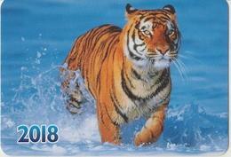 Calendar Russia 2018 - Amur Tiger - Animals - Sea - Beautiful. - Calendars