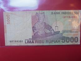 INDONESIE 5000 RUPIAH 2001 CIRCULER - Indonesia