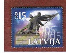 LETTONIA (LATVIA)   - MI 627  -      2005 REVOLUTION OF 1905 CENTENARY  -   USED - Lettonia