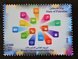 JOURNEE DES TELECOMS 2018 - TIMBRE DU BLOC NEUF ** - NOUVEAUTE - Palestine