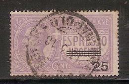 """(Fb).Regno.V.E.III.Espressi.1917.""""Espresso Urgente Soprastampato"""" .25c Violetto Su 40c Usato (524a-16) - 1900-44 Vittorio Emanuele III"""
