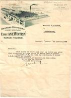 1 Facture Tournai Namur Denrées Coloniales Vins & Spiritueux Ant.Woitrin C1936 - Belgique