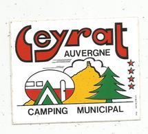 Autocollant , CAMPING MUNICIPAL , LEYRAT , 23, Creuse ,  Auvergne - Adesivi